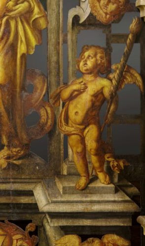 Madonna met Jezuskind en Putti, 1657, Antonius Willemssens (toegeschreven aan), Hoher Dom zu Paderborn, Foto: A. Hoffmann