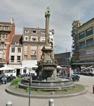 David-fontein op de Place Verte in Verviers