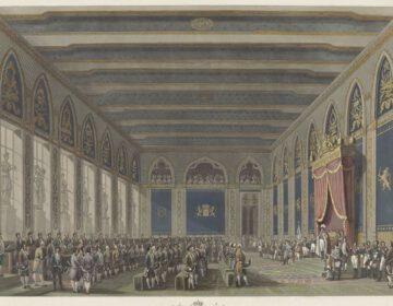Instelling van de Staten-Generaal door koning Willem I in het Brusselse stadhuis, 1815 - Johann Nepomuk Gibèle
