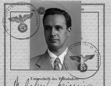 Een pagina uit een van Griesingers paspoorten