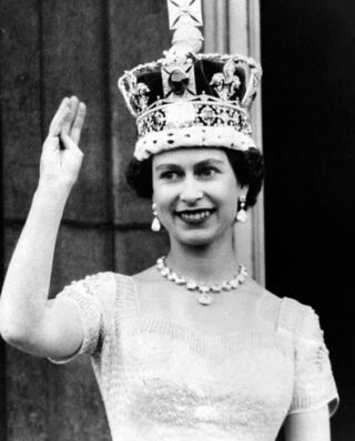 Elizabeth II tijdens de kroning, 1953