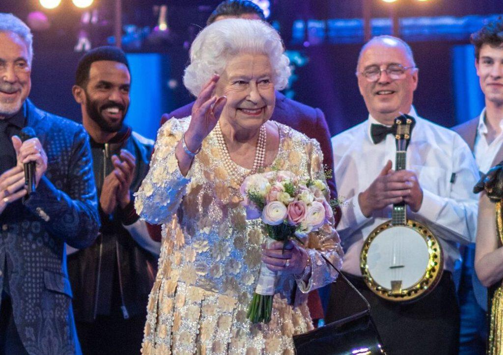 Koningin Elizabeth II tijdens haar verjaardagsfeest in 2018