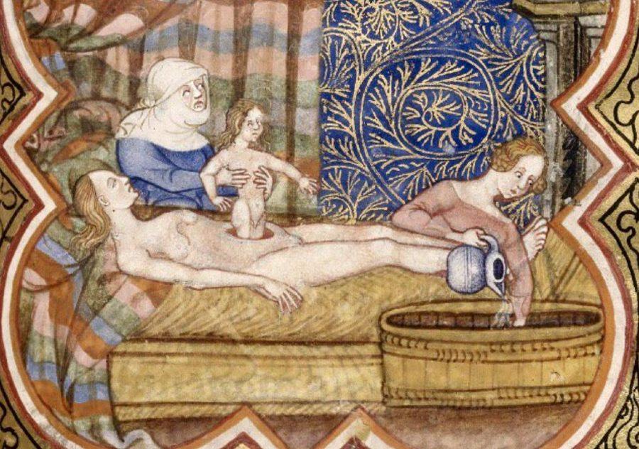 Fictieve voorstelling van de geboorte van Caesar, ca. 1301
