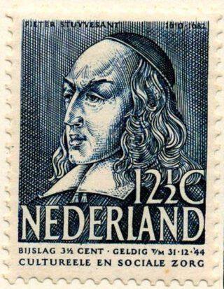 Peter Stuyvesant op een postzegel uit 1939