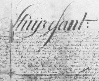 Handtekening van Stuyvesant