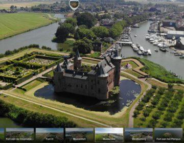 360º beeld van het Muiderslot, als onderdeel van de Stelling van Amsterdam