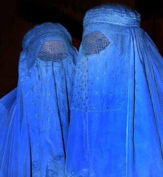 Afghaanse vrouwen in boerka