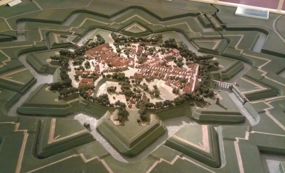 Maquette van de verdedigingswerken van Coevorden