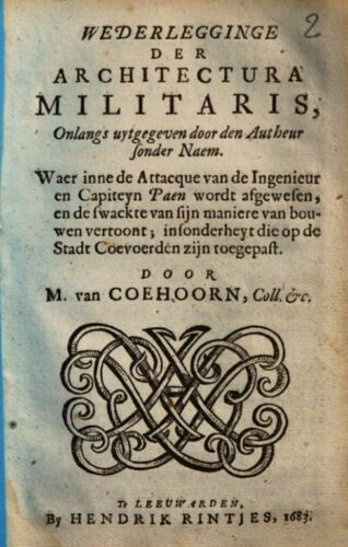 Wederlegginge der Architectura militaris - Menno van Coehoorn