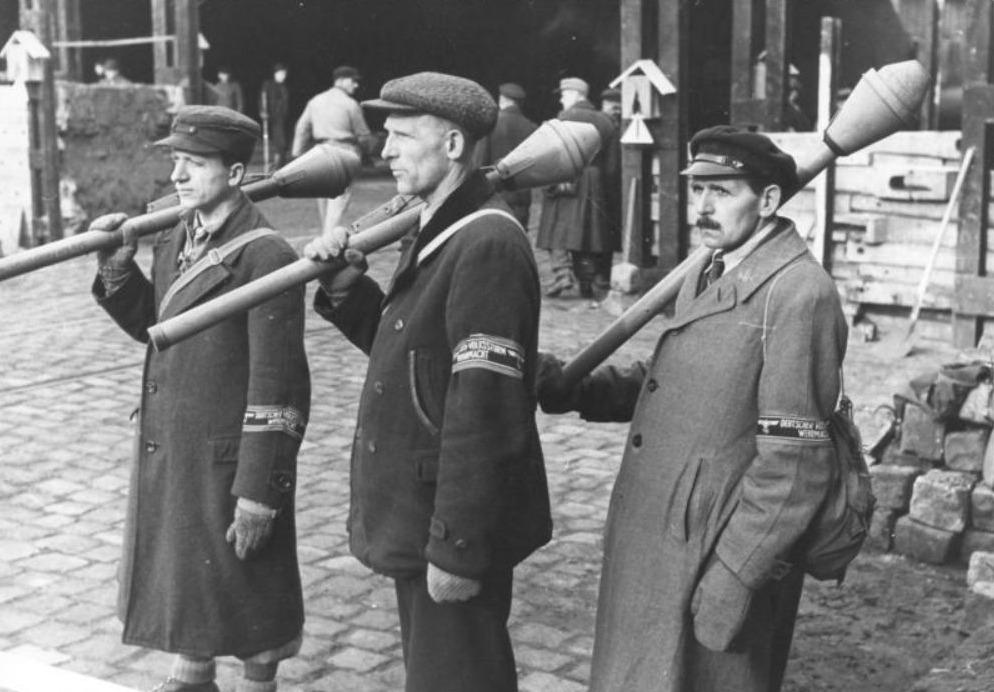 Volkssturmsoldaten in Berlijn, maart 1945