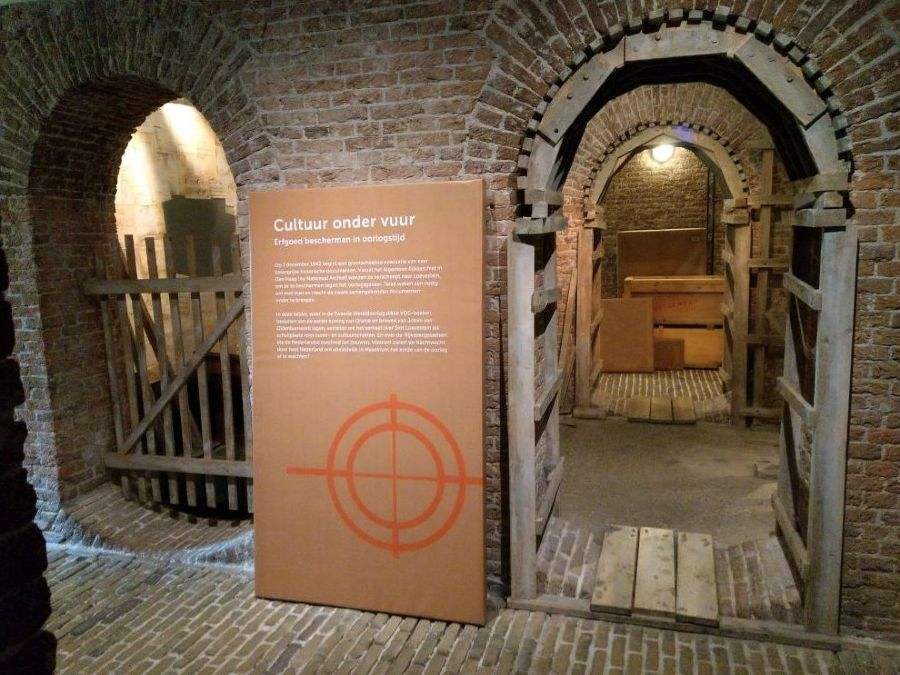 De tentoonstelling 'Cultuur onder Vuur' op Slot Loevestein