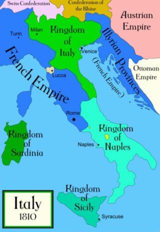 De Franse provincies in Italië en Illyrië, 1810