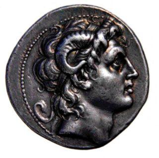 Muntstuk met de afbeelding van Alexander met de hoorns van Amon, derde eeuw v.Chr., British Museum