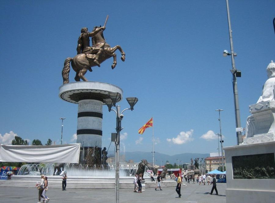Standbeeld van Alexander de Grote in Skopje