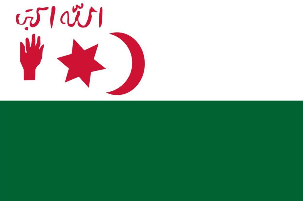 Vlag van de Algerijnse nationalisten in 1945