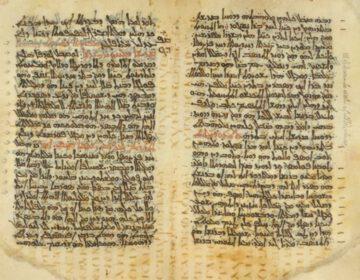 Palimpsest - Codex Nitriensis, met Syrische tekst daarboven
