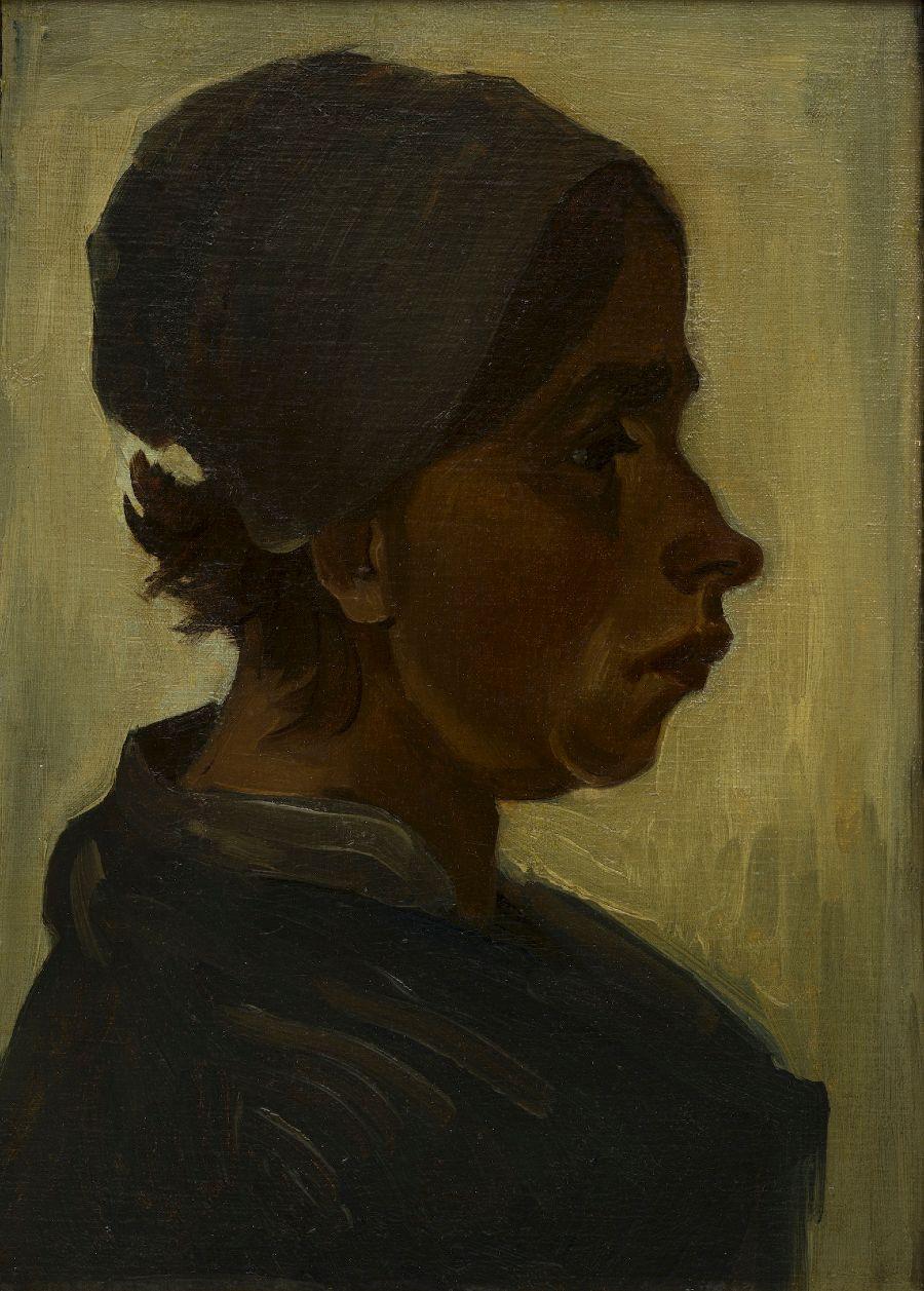 Kop van een vrouw - Vincent van Gogh