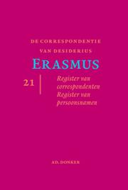 Correspondentie van Desiderius Erasmus - Laatste deel in de reeks