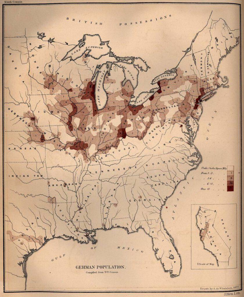 Duitse bevolking in de Verenigde Staten in 1872