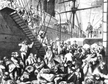 'From the Old to the New World', Duitse emigranten in Hamburg, op weg naar New York (1874)