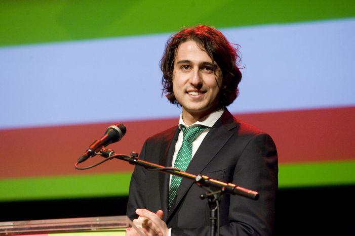 Jesse Klaver tijdens een congres in 2012