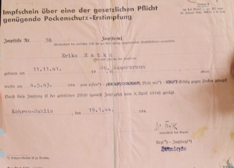Impfschein Ingrid von Oelhafen