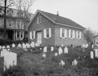 Mennonietenkerk in Germantown, circa 1903