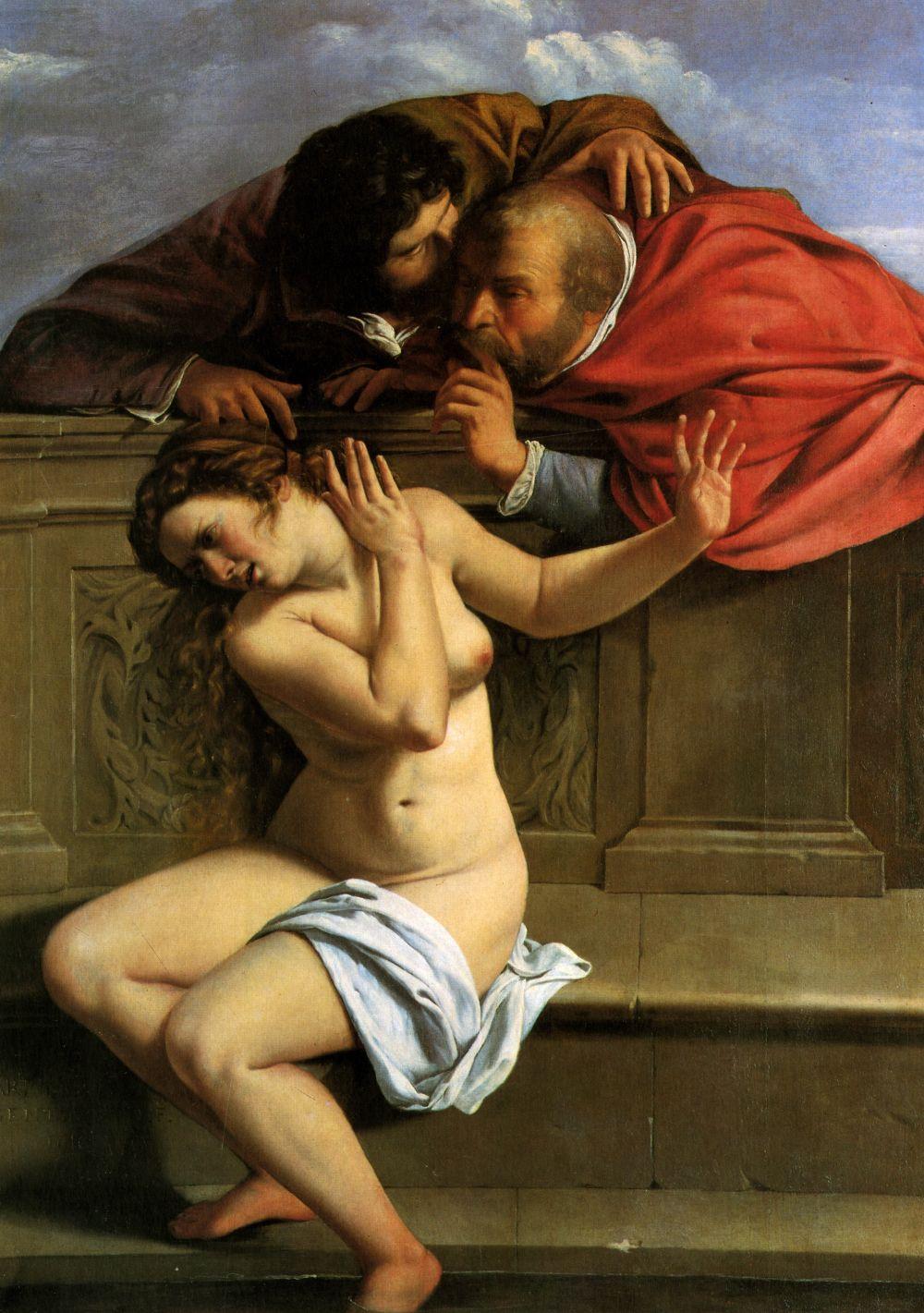 Susanna en de ouderlingen - Artemisia Gentileschi, 1610