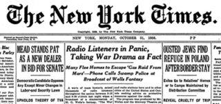 Bericht in de New York Times over de paniekuitbraak