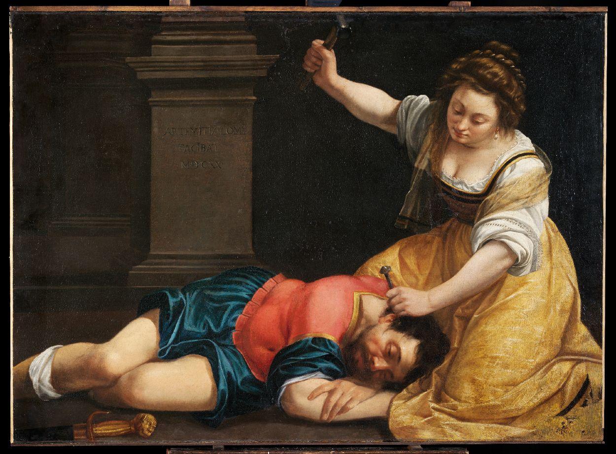 Jaël en Sisera - Artemisia Gentileschi, 1620