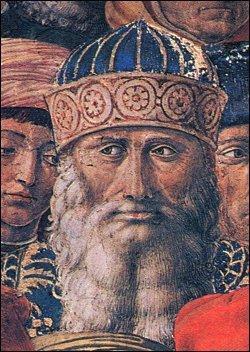 Georgios Gemistos Plethon - Fresco van Benozzo Gozzoli, Palazzo Medici Riccardi, Firenze.