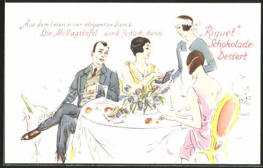 'Riquet Schokolade Dessert' (vermoedelijk rond 1925)