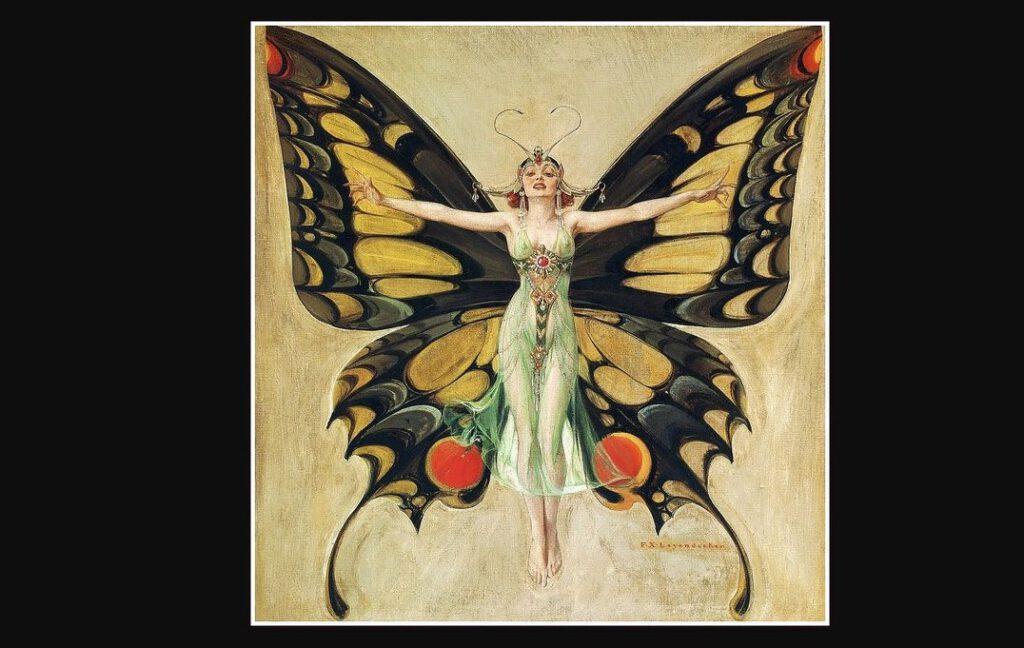 Artistieke verbeelding van de Neue Frau of Flapperfrau door Frank Xavier Leyendecker, 1922