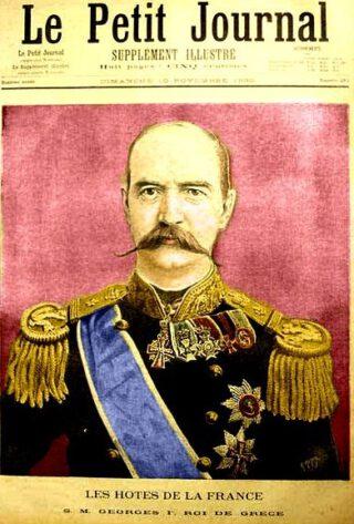 George I van Griekenland op de cover van het Franse tijdschrift 'Le Petit Journal', 1895