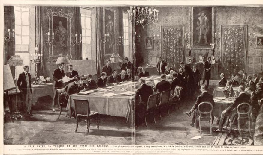 Ondertekening van de Vrede van Londen