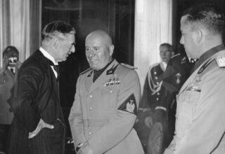 Neville Chamberlaine en Benito Mussolini, 29 september 1938