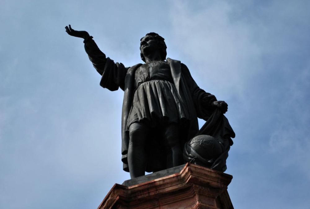 Het standbeeld van Christoffel Columbus in Mexico-Stad