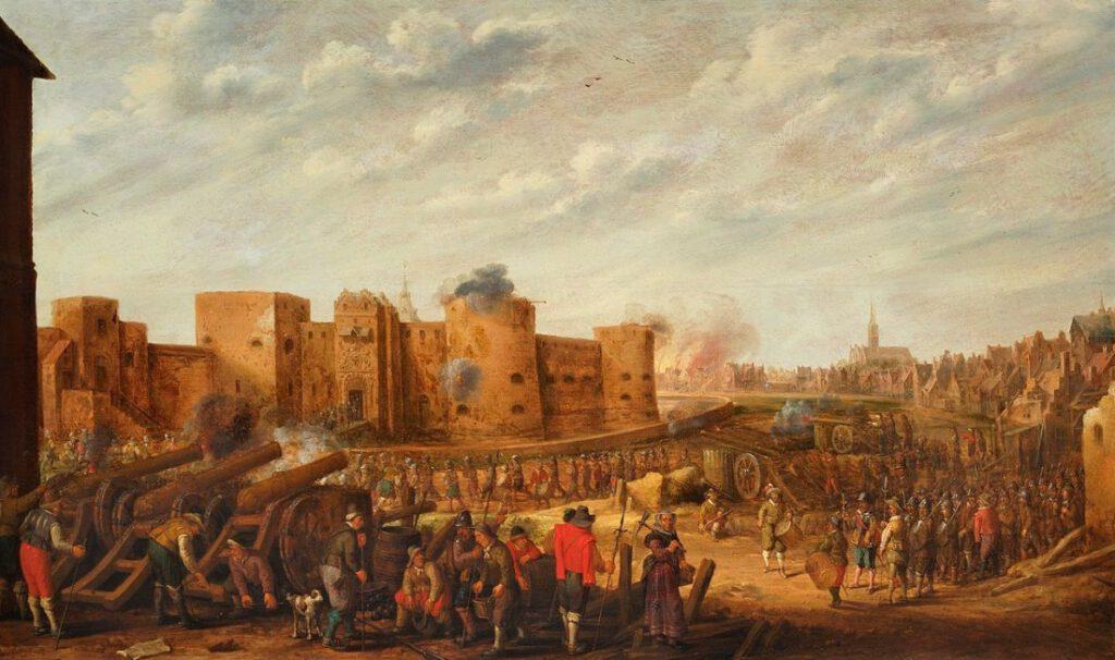Het beleg van het kasteel Vredenburg te Utrecht in 1577, 1646 - J.C. Droochsloot