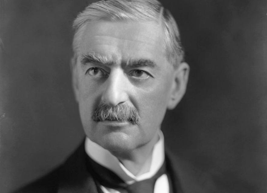Portret van Neville Chamberlain