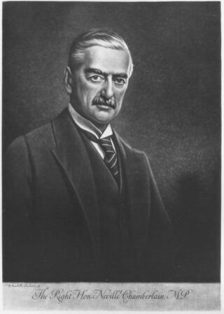 Neville Chamberlain - Werk van Henry Macbeth-Raeburn