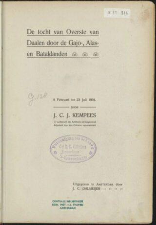 'De tocht van Overste van Daalen' - J.C.J. Kempees