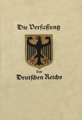Omslag van de Grondwet van Weimar