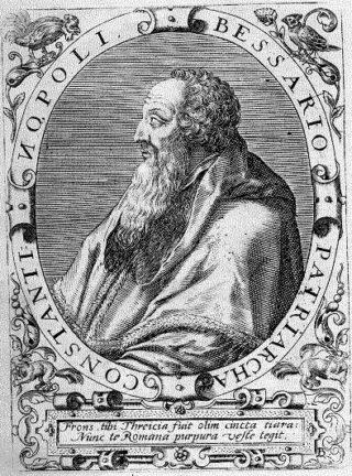 Basilios Bessarion. Gravure van Theodoor de Bry, 17de eeuw.