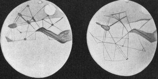 Kanalen op Mars volgens  Percival Lowell
