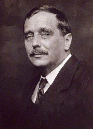 H.G. Wells in 1920 - Foto van George Charles Beresford
