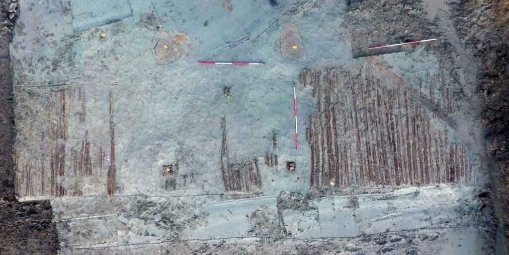Luchtfoto van de vindplaats
