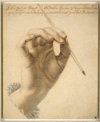 Rechterhand van Artemisia Gentileschi - Pierre Dumonstier II, 1625