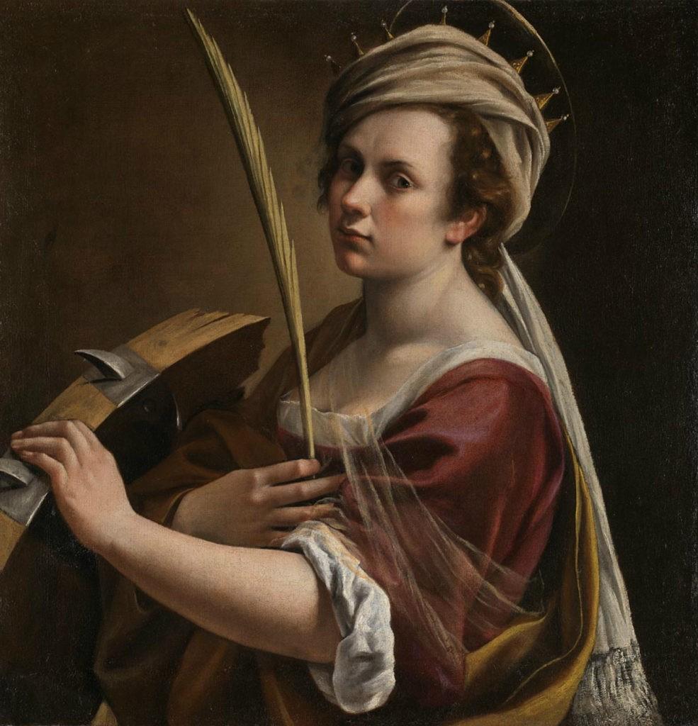 Zelfportret als de Heilige Catharina van Alexandrië - Artemisia Gentileschi, ca. 1615-17