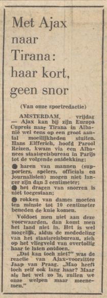 Bericht in Het Parool over de 'kwestie', 10 juli 1970