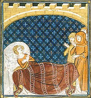 De dood van Willem X van Aquitanië